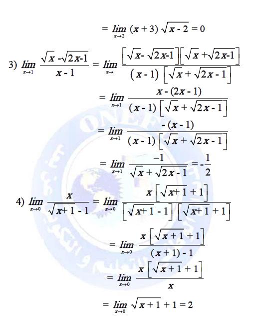 تمارين في دروس النهايات و الاستمرار مع الحلول do.php?img=9557